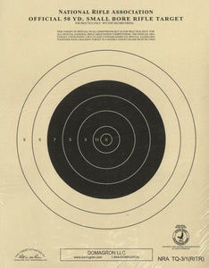 TQ-3/1 Weather Resistant 50 Yard Small Bore Rigle Target Official NRA Target (48 Pack) with Rite in The Rain Technology - DOMAGRON