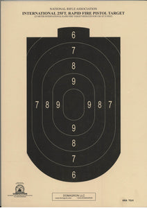 TQ-8 NRA Official 25-Foot Rapid Fire Airgun Target (pack of 100)