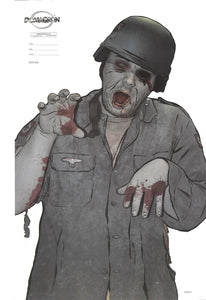 "Zombie Full Color Photo Situational Target Assortment - 4 Different 22.5"" x 35""  Targets  (100 Pack) - DOMAGRON"