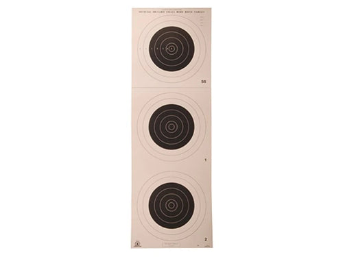 A-25 100 Yard Smallbore Rifle Target (Pack of 50) - DOMAGRON