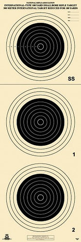 A-33 100 Yard Smallbore Rifle Target (Pack of 50) - DOMAGRON