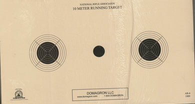 AR-6 - 10 Meter UIT Air Rifle Three Bulleye Official NRA Target - DOMAGRON