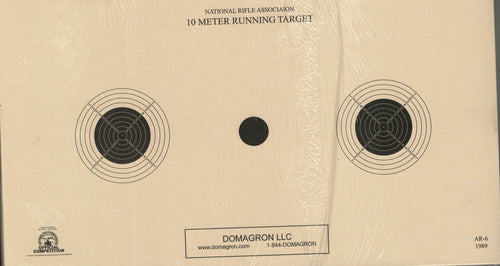 AR-6 - 10 Meter UIT Air Rifle Three Bulleye Official NRA Target (Pack of 50) - DOMAGRON