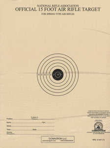 A-44/1 - 15 Foot Air Rifle Single Bulleye Official NRA Target (Pack of 100) - DOMAGRON