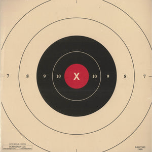 25 Yard Timed and Rapid Fire Red Repair Center Pistol Target B-8C 50 Pack