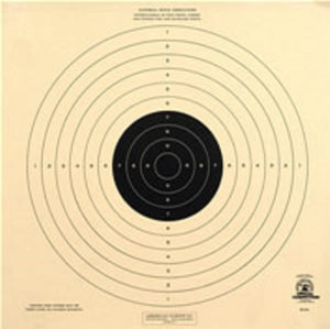 50 Foot UIT Standard Pistol Reduced Official NRA Target- B33 (100 Pack)