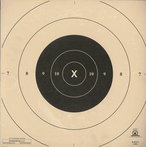 25 Yard Timed and Rapid Fire Repair Center Pistol Target Official NRA Target B-8(CT) (50 Pack)