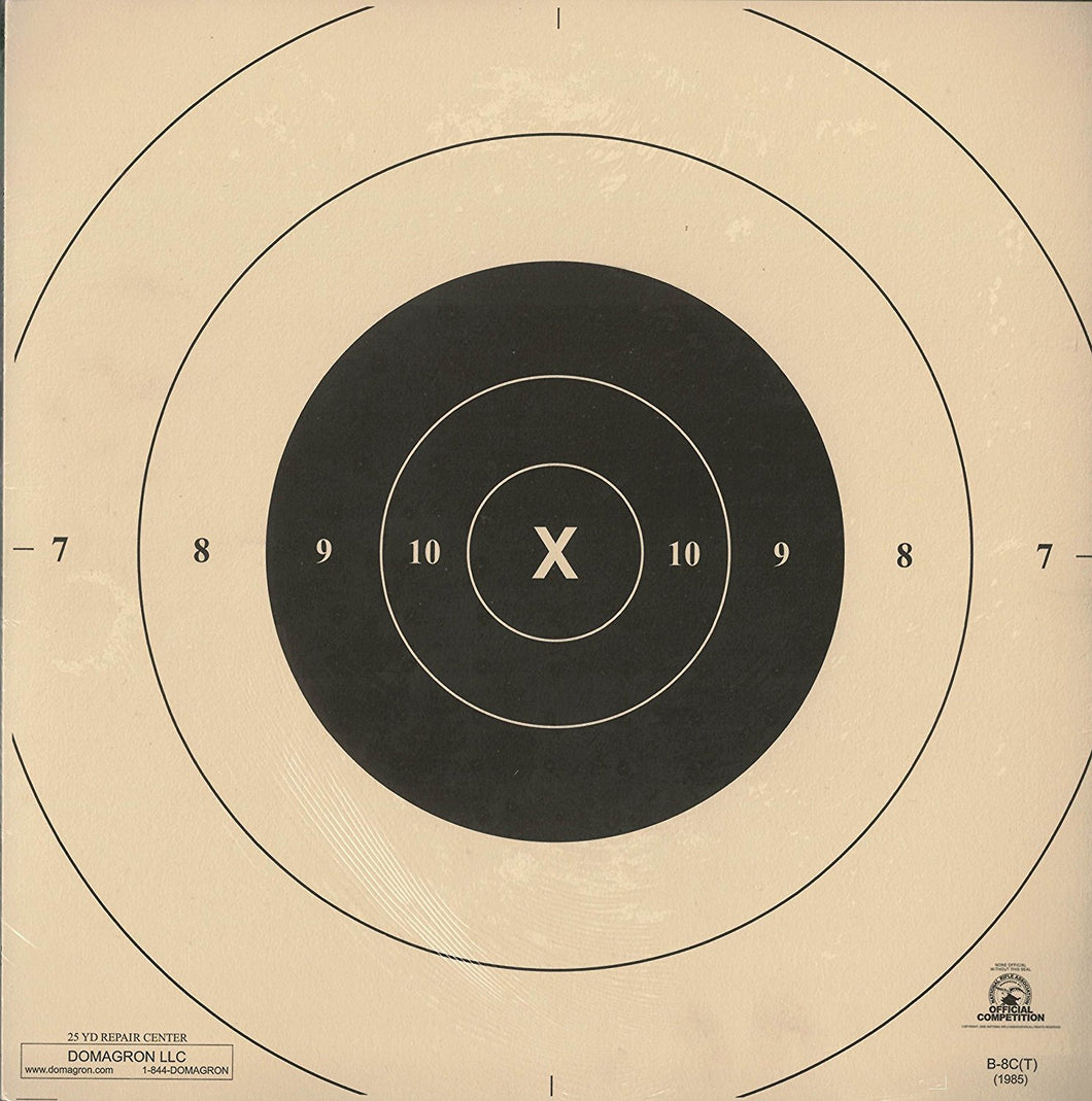B-8C - Repair Center for the 25 Yard Timed and Rapid Fire B-8 Pistol Target - DOMAGRON
