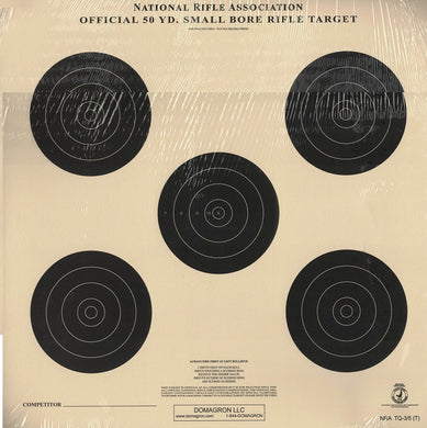TQ-3/5 Weather Resistant 50 yard Small Bore Rifle Target (48 Pack) with Rite in The Rain Technology - DOMAGRON