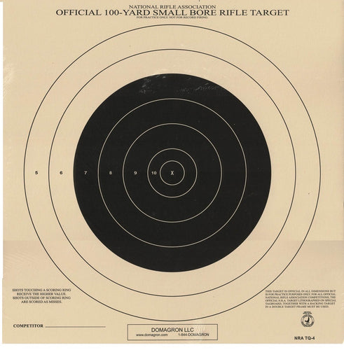 TQ-4 Weather Resistant 100 Yard Small Bore Rifle Competition NRA Target  (48 Pack) with Rite in The Rain Technology