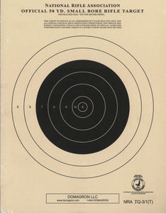 Official 50 Yard Small Bore Target Rifle Target (TQ-3/1) 100 Pack