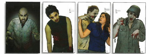 Zombie Full Color Photo Situational Target Assortment - 4 Different 22.5