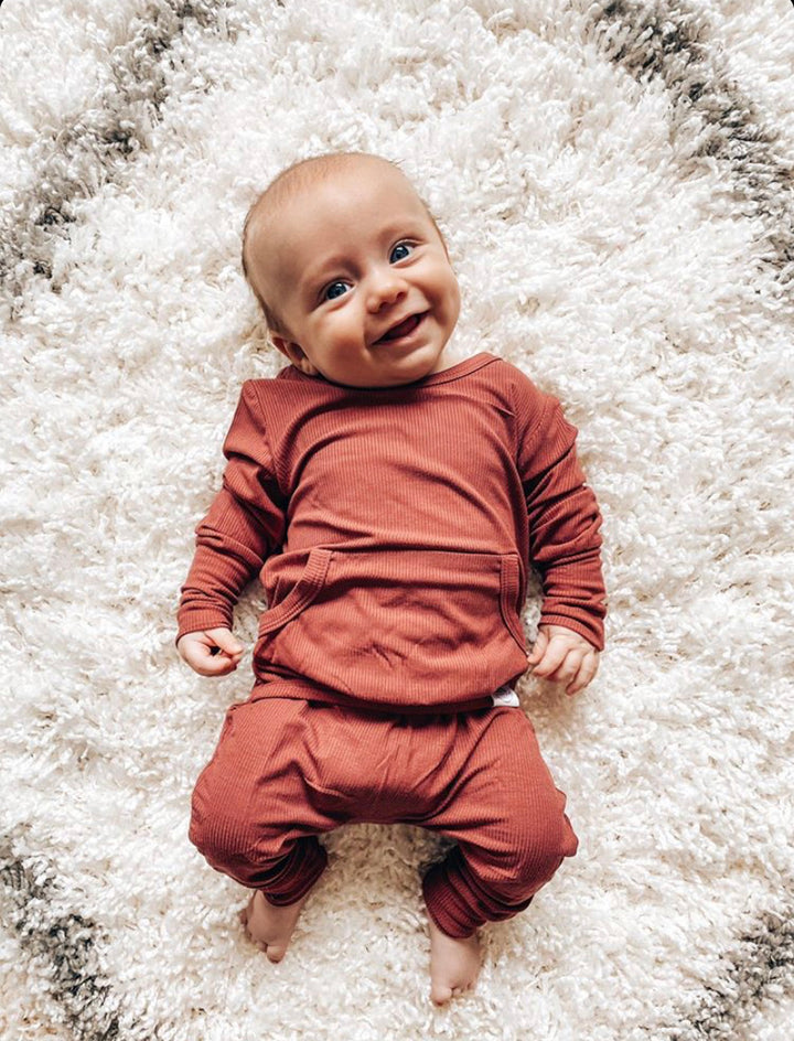 "The ""Memphis Rust"" Ribbed Romper"
