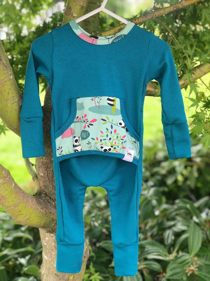 The Bamboo Buddies Romper (solid sleeve)