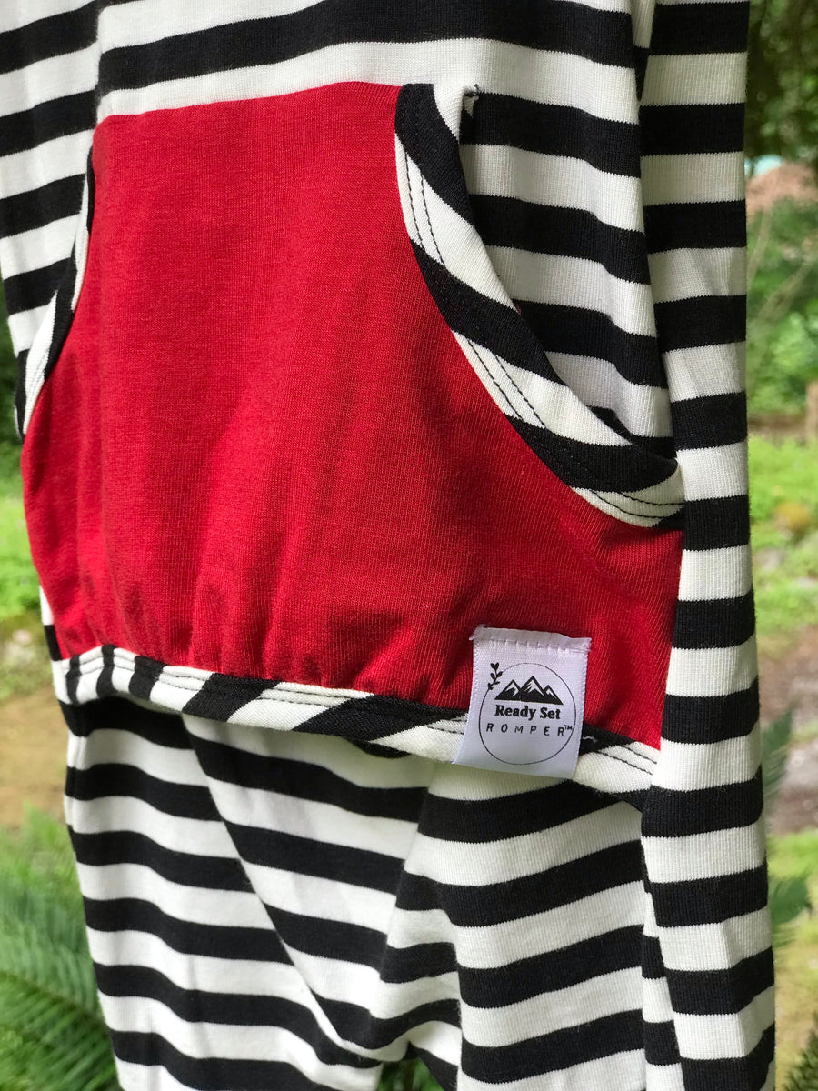 """Radical Red & Stripes"" Romper"