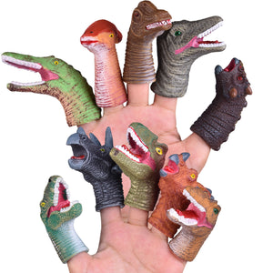 10 PCs Animal Bath Finger Puppets, Dinosaur Head Finger Toys, Best Choice for Kids Party Favors, Treasure Box Prizes, Pinata Fillers and Goodie Bag Fillers (4604226961454)