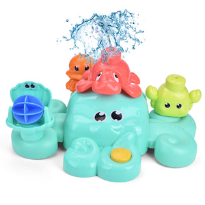 Bath Toys for Toddlers, 5 PCs Bath Tub Toys Set, Spray Water Toys for Kids, Best Gifts for Boys & Girls (4601209782318)