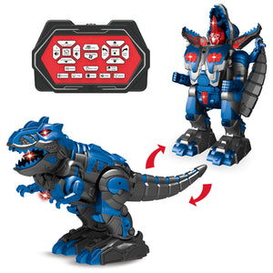 Remote Control Dinosaur with Sound and Light, Transforming Toy Dinosaur for Kids Birthday Gift (4604221030446)