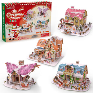 3D Puzzles for Kids in 4 Styles, 134 PCs Jigsaw Puzzles, Birthday Gifts for Boys and Girls (4601894797358)