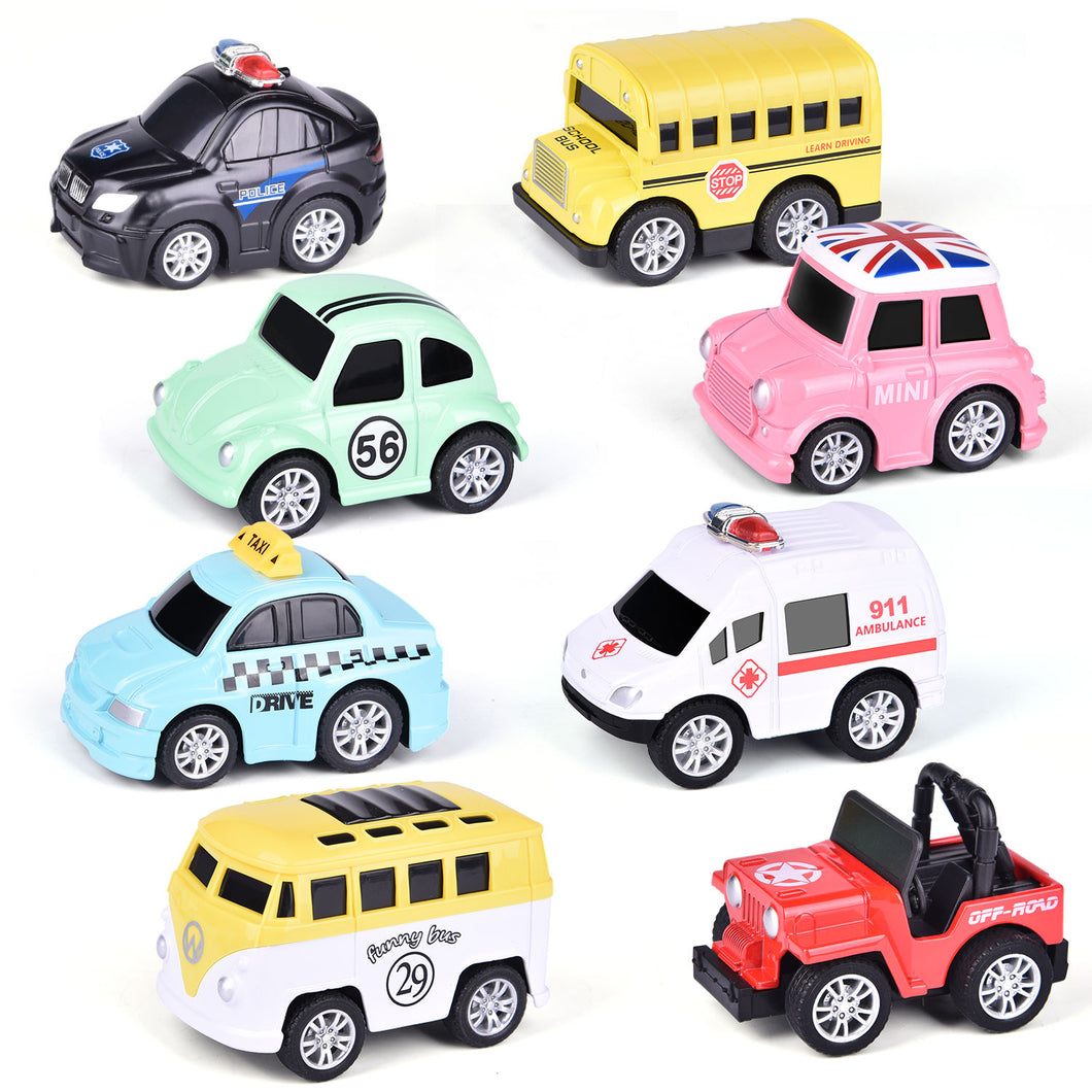 8 pack pull-back cars (4338611486766)