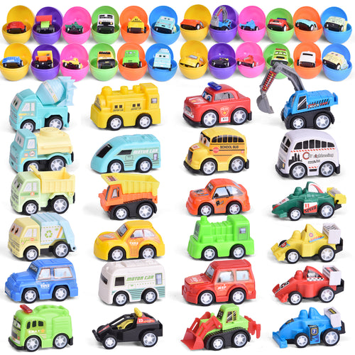 24 Pcs Mini Pull Back Cars Toy Vehicles for Kids Party Favors, Goodie Bags Fillers, Classroom Prizes, Pinata Fillers (4603551481902)