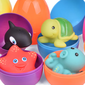 12 PCs Bath Toys for Toddlers, Assorted Sea Animals Water Toys for Party Favors, Kids Prizes (4601215254574)