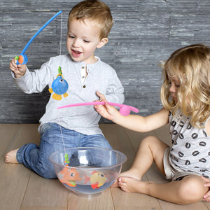 22 PCs Bath Toys for Toddlers, Outdoor Toys Fishing Game Playset with Fishing Rod Fishing Net, Water Toys Pool Toys for Easter Gifts (4601199001646)