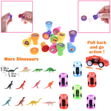100Pcs Bulk Party Favor Pack Assortment Pinata Toys Including Bouncy Ball, wristband, Stamps,glasses,Small Cars, Dinosaur, and More (4602192461870)