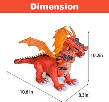 Dragon Toys for Boys and Girls, 7 Headed Walking Toy Dragon Figure with Lights and Sounds, Birthday Gifts for Kids (4601915310126)