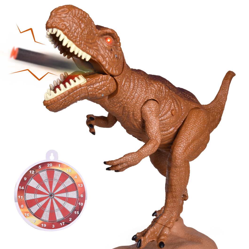 Dinosaur Toys with Soft Foam Darts, Realistic Toy Dinosaur Figure for Kids, Dilophosaurus Toy Gift for Boys and Girls with Roaring Sound and Light (4601941327918)