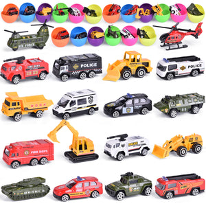18 Pcs Die-cast Cars Toy Vehicles for Party Favors, Goodie Bags Fillers, Classroom Prizes, Pinata Fillers (4603551219758)