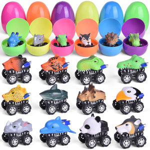 12 PCs Pull Back Cars Toy Vehicles for Party Favors, Goodie Bags Fillers, Classroom Prizes, Pinata Fillers (4603550007342)