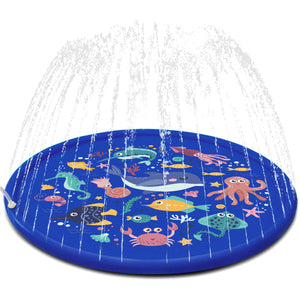 Sea Animal Inflatable Splash Sprinkler Pad for Kids, 66'' Water Toy for Summer Outdoor Swimming Pool, 2-12 Year Old Boys & Girls Toys (4600450777134)