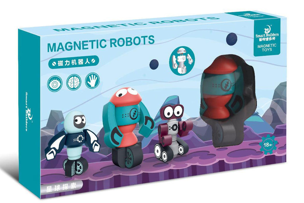 Magnetic Rocket Robots Set (4471230758958)