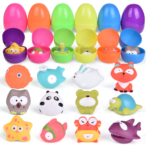Bath Toys for Toddlers, Sea Animals Squirters Toys for Bath Tub, Water Toys for Kids-12 Pieces (4601213517870)