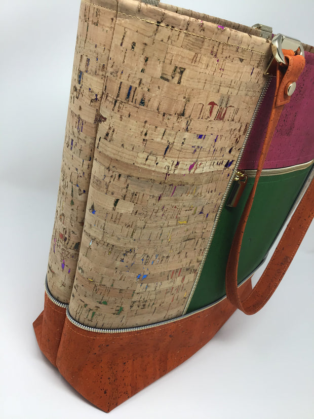 Multi-Color Cork Tote