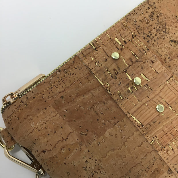 Tan Cork Pochette - Small