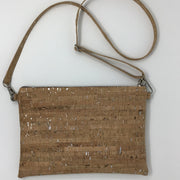 NEW Design! Natural Silver Cork Crossbody Beltbag