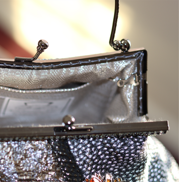 Gunmetal, Silver, Black, Gold & Copper Metallic Handbag