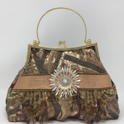 Copper Metallic Handbag  Copper Leather