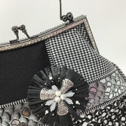 Black White Houndstooth Handbag