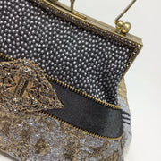 Silver, Gold and Black Metallic Handbag