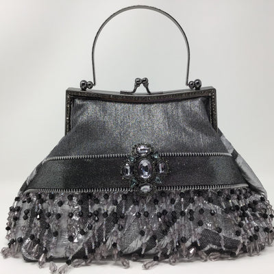 Silver Platinum Metallic Handbag