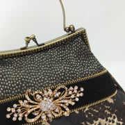 Brown, Black & Gold Snake Print Handbag