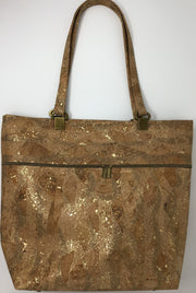 Gold Metallic Cork Tote