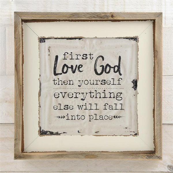 First Love God Wall Sign