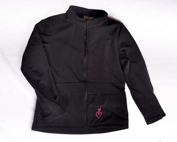 Rockies Black Coat With Pink Symbol