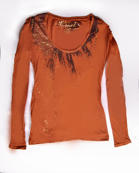 Cruel Girl Shirt Orange And Brown
