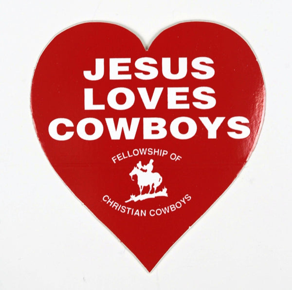 Jesus Loves Cowboys Stickers