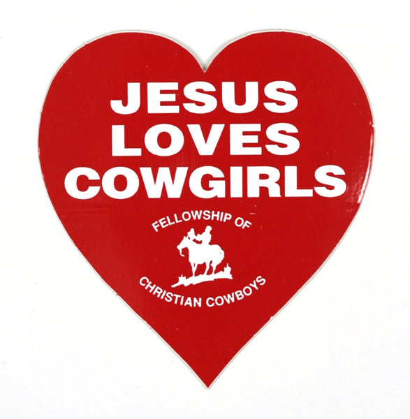 Jesus Loves Cowgirls Stickers